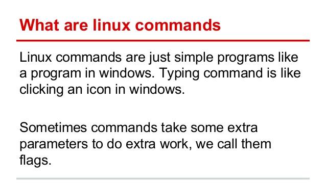 linux commands list
