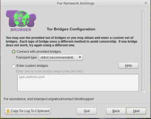 Tor Bridges Configuration