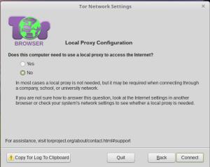 Local proxy configuration